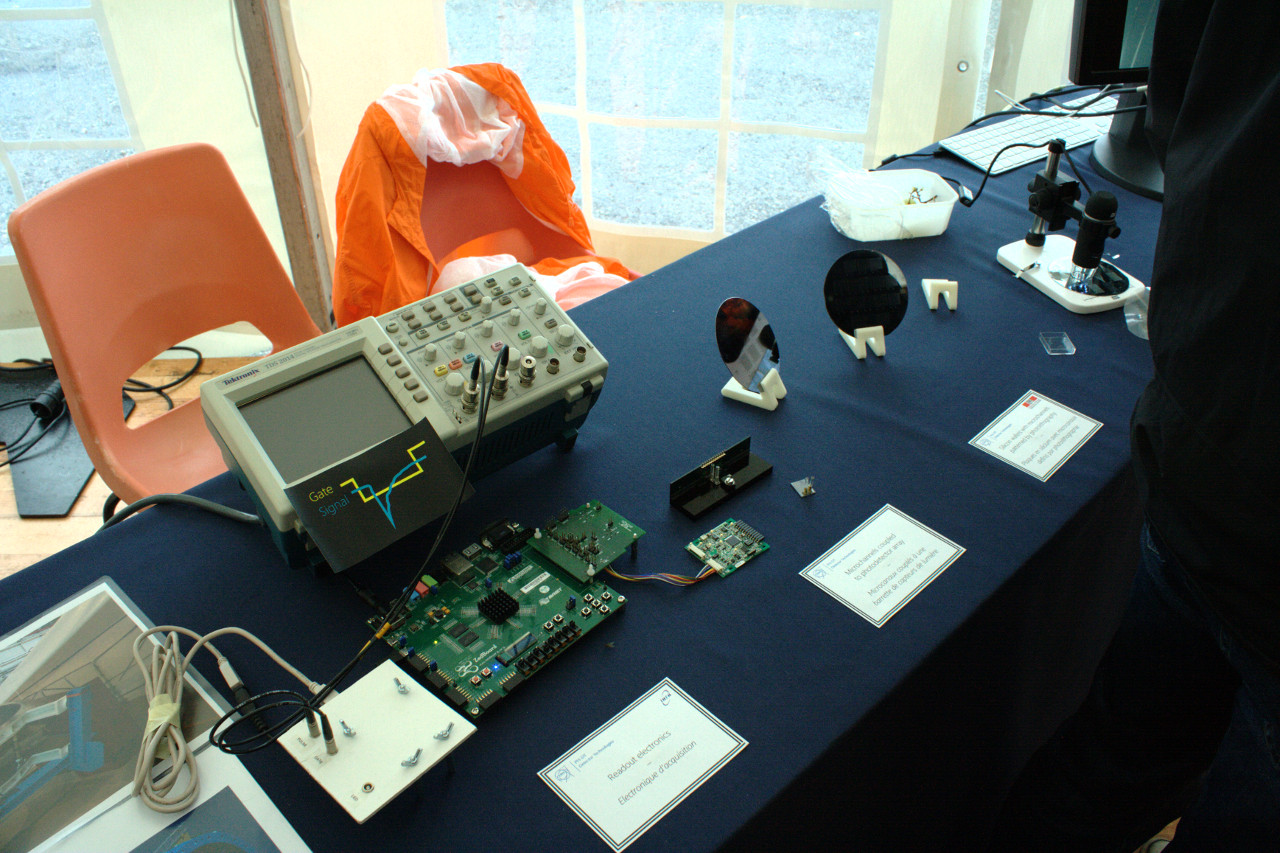 Table at the advanced sensor technologies stand