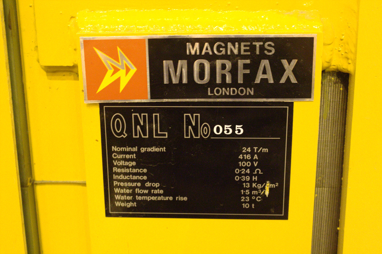 Beam magnet specifications