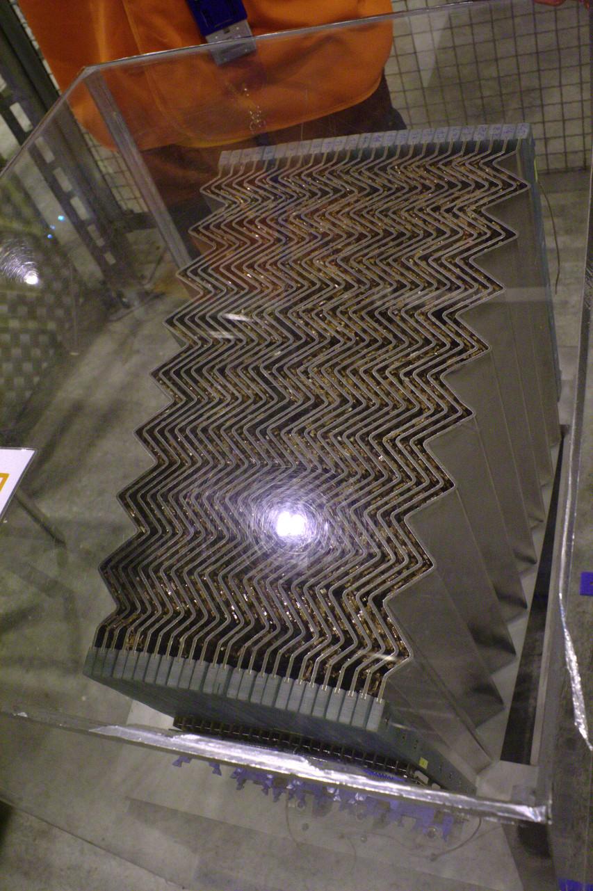 ATLAS electromagnetic calorimeter prototype cross section