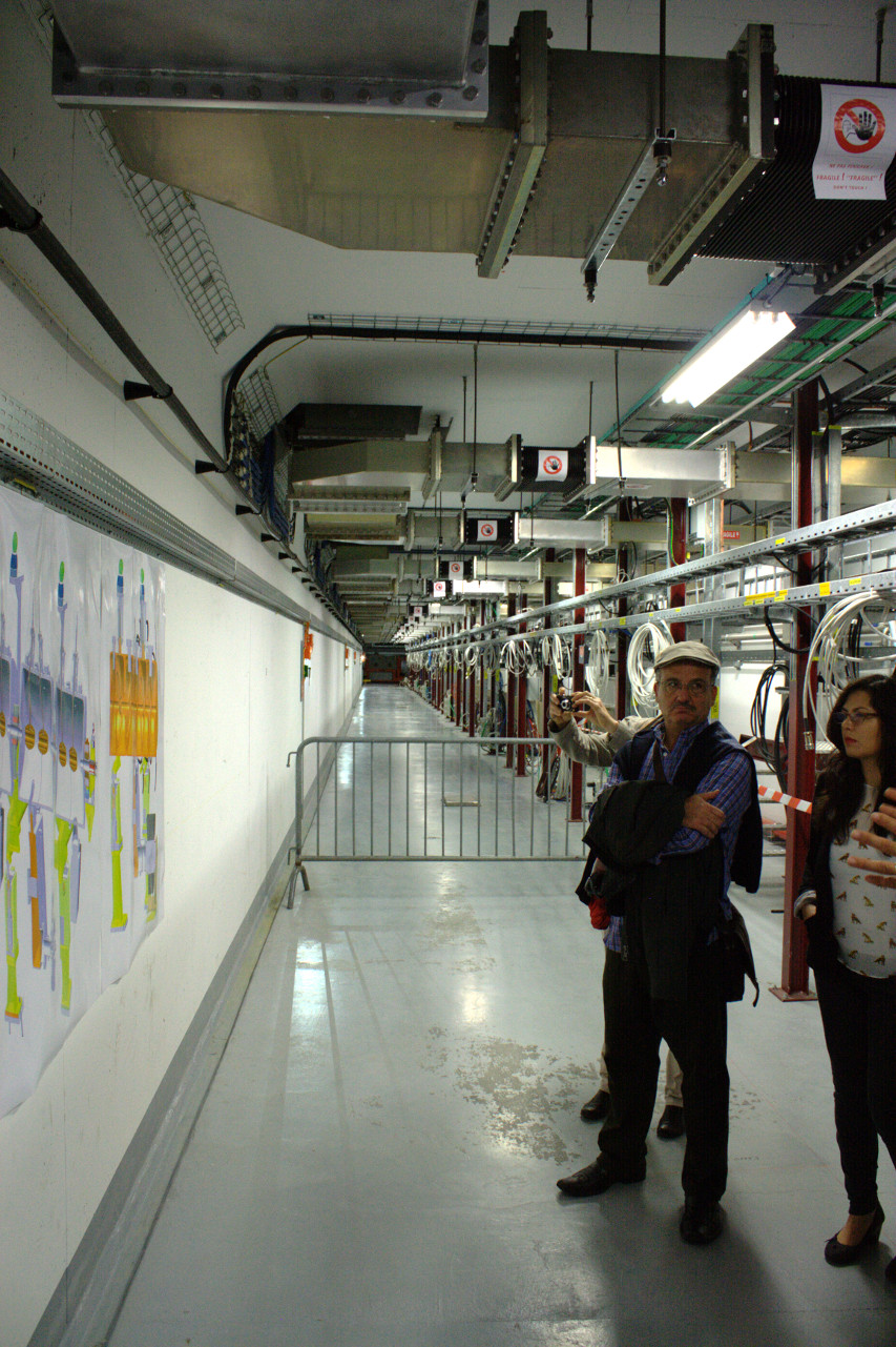 LINAC-4 accelerator hallway