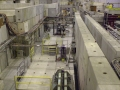 Beam line in the experiment hall number 1