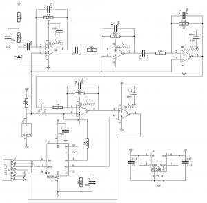 Radiation detector schematic