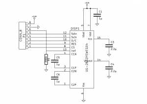 OLED-display adapter board schematic