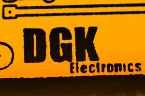DGK electronics logo on a PCB