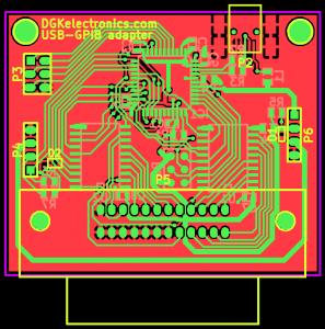 USB-GPIB adapter PCB design