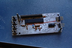 Gyro programming box PCB from the top