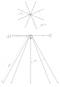 Discone antenna drawing