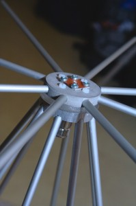 Close-up up the discone antenna
