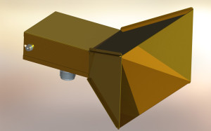 4.3GHz 13dBi horn antenna, rendered