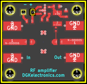 MSA-0686 amplifier/multiplier layout