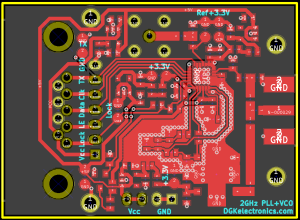 2GHz PLL+VCO board layout